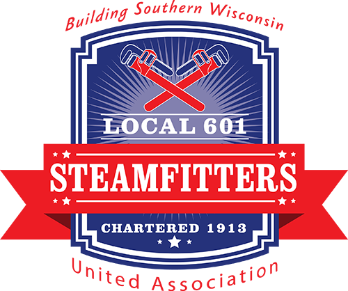UA Local 601 Steamfitters Logo